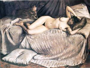 Femme Nue Etendue Sur Un Divan (Naked Woman Lying on a Couch)