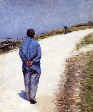 Gustave Caillebotte - Man in a Smock (or Father Magloire on the Road between Saint-Clair and Etretat)