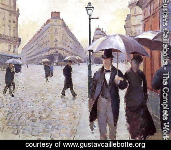 Gustave Caillebotte - Paris Street: A Rainy Day (study)