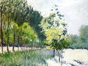 Gustave Caillebotte - Lane Bordered by Trees