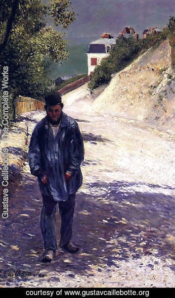Gustave Caillebotte - Claude Monet Walking, 1884