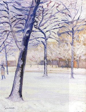 Gustave Caillebotte - Park in the Snow, Paris