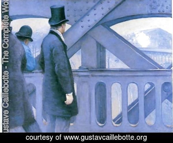Gustave Caillebotte - The Pont de Europe (study)