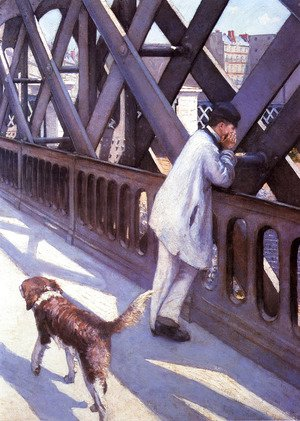 Gustave Caillebotte - The Pont du Europe (detail)
