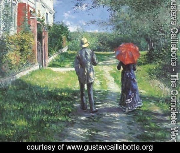 Gustave Caillebotte - Chemin montant