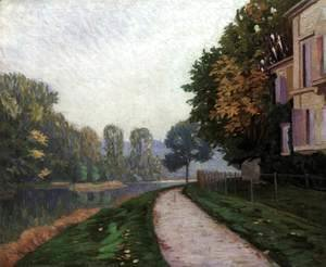 Gustave Caillebotte - Riverbank in Morning Haze