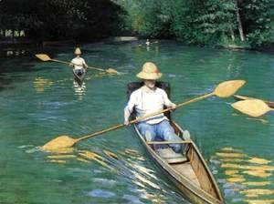 Gustave Caillebotte - Canoeing on the Yerres
