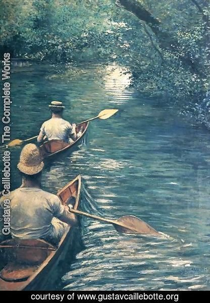 Gustave Caillebotte - Canoeing
