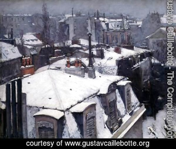 Gustave Caillebotte - Snow-Covered Roofs in Paris