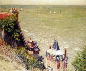 Gustave Caillebotte - The Pink Villa, Trouville