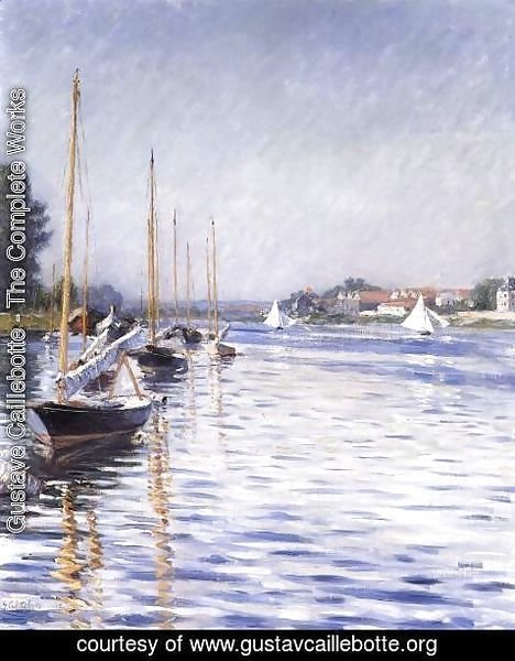 Gustave Caillebotte - Boats on the Seine at Argenteuil 2