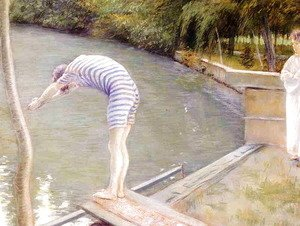 Gustave Caillebotte - The Bather, or The Diver