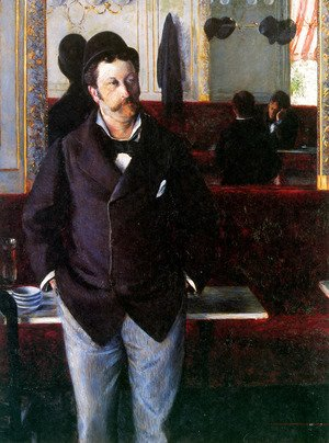Gustave Caillebotte - At the Cafe, Rouen