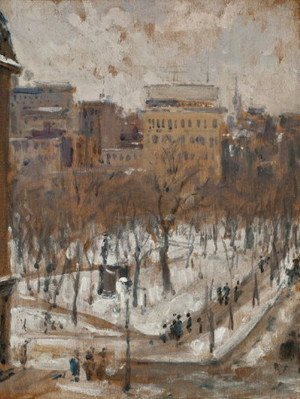 Gustave Caillebotte - Square in Paris, Snowy Weather