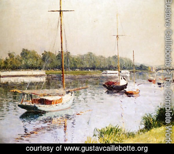 Gustave Caillebotte - The Harbour of Argentueil
