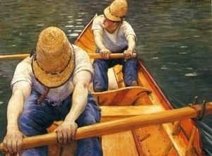 Gustave Caillebotte - Boaters Rowing on the Yerres