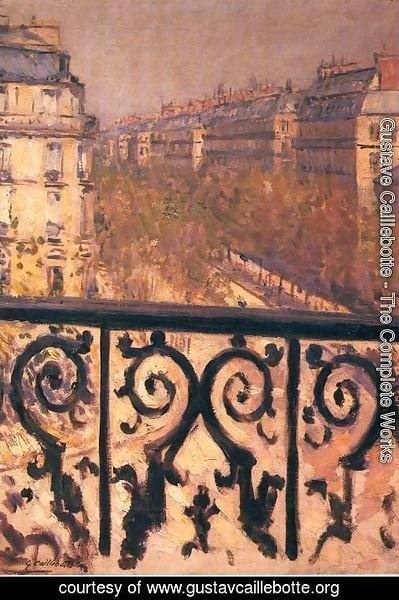 Gustave Caillebotte - A Balcony In Paris