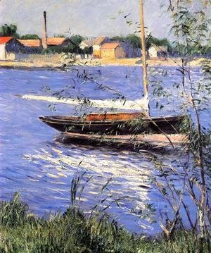 Gustave Caillebotte - Anchored Boat On The Seine At Argenteuil