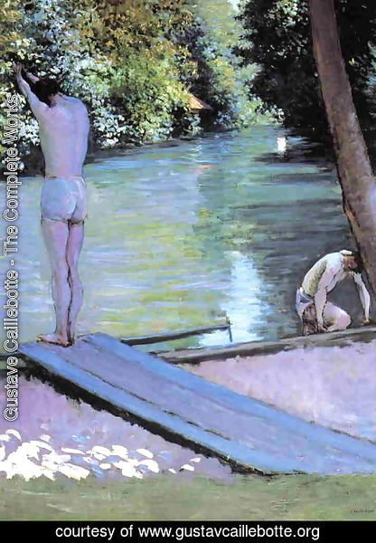 Gustave Caillebotte - Bather Preparing To Dive  Banks Of The Yerres