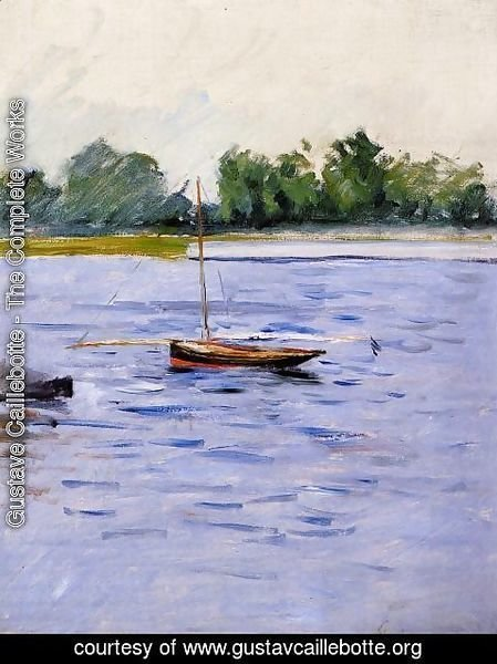 Gustave Caillebotte - Boat At Anchor On The Seine
