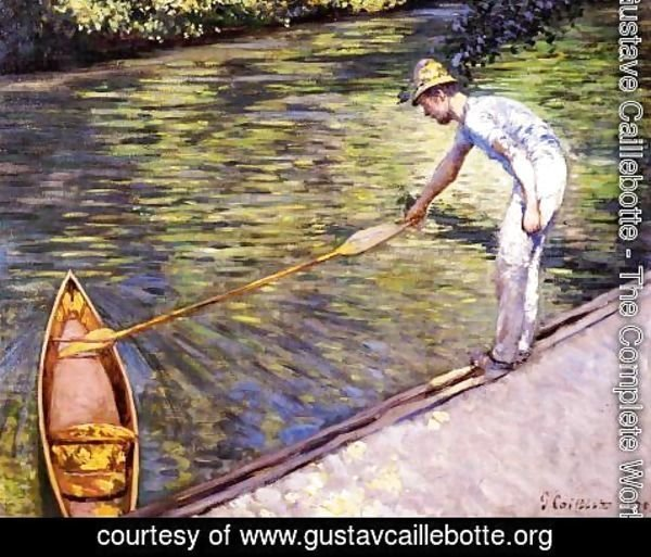 Gustave Caillebotte - Boater Pulling On His Perissoire