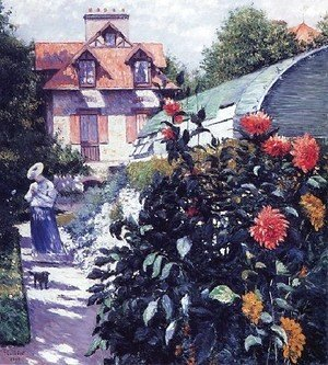Gustave Caillebotte - Dahlias The Garden At Petit Gennevilliers