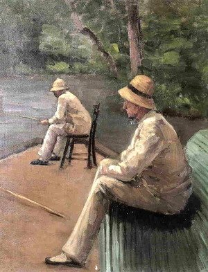 Gustave Caillebotte - Fishermen On The Banks Of The Yerres