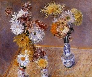 Gustave Caillebotte - Four Vases Of Chrysanthemums