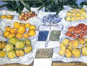 Gustave Caillebotte - Fruit Displayed on a Stand 1881-82