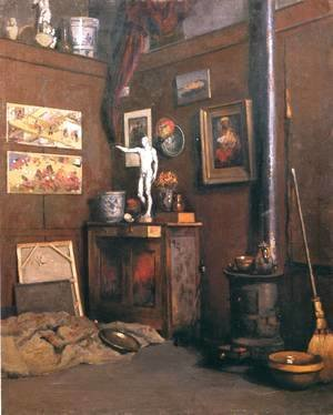 Interior Of A Studio With Stove
