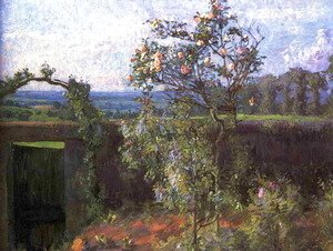 Gustave Caillebotte - Landscape Near Yerres Aka View Of The Yerres Valley And The Garden Of The Artists Family Property