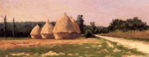 Gustave Caillebotte - Landscape With Haystacks