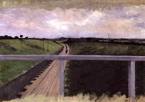 Gustave Caillebotte - Landscape With Railway Tracks