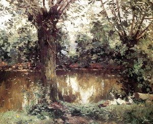 Gustave Caillebotte - Landscape  Banks Of The Yerres