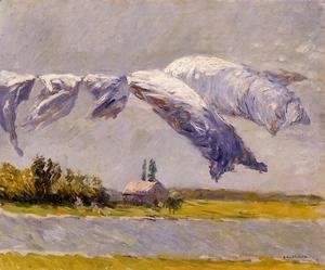 Gustave Caillebotte - Laundry Drying  Petit Gennevilliers