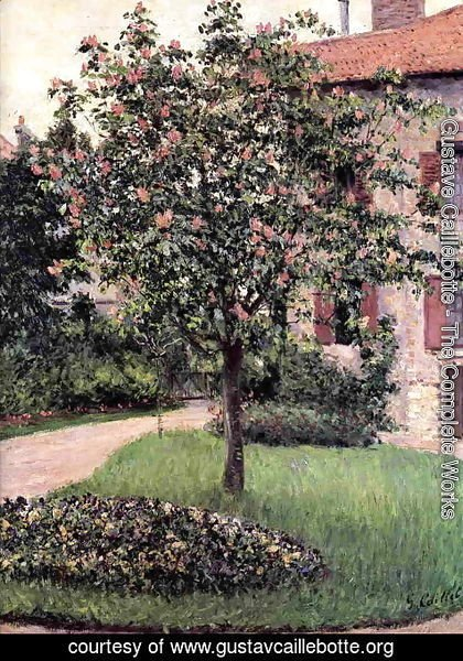 Gustave Caillebotte - Petit Gennevilliers  Facade  Southeast Of The Artists Studio  Overlooking The Garden  Spring