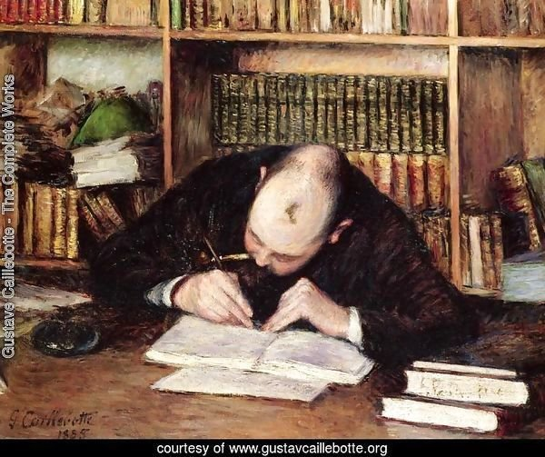 Portrait Of A Man Writing In His Study