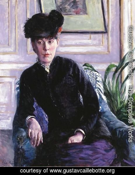 Gustave Caillebotte - Portrait Of A Young Woman In An Interior Aka Portrait Of Madame H