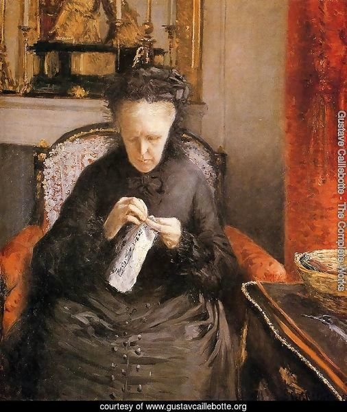 Portrait Of Madame Martial Caillebote (the Artists Mother)