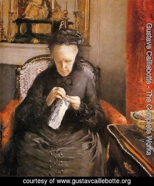 Gustave Caillebotte - Portrait Of Madame Martial Caillebote (the Artists Mother)
