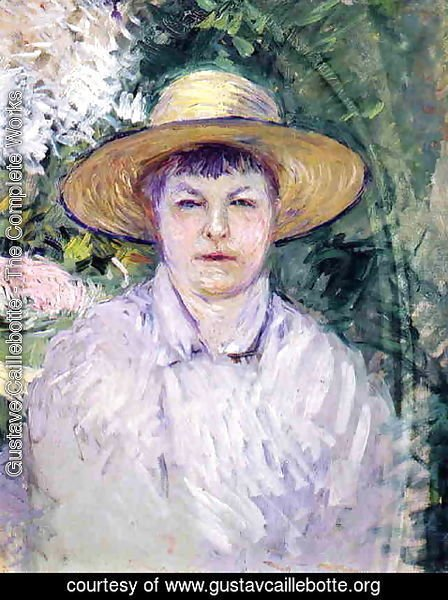 Gustave Caillebotte - Portrait Of Madame Renoir