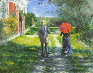 Gustave Caillebotte - Rising Road
