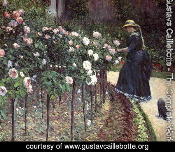 Gustave Caillebotte - Roses  Garden At Petit Gennevilliers