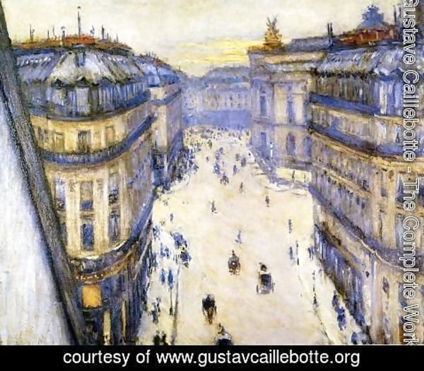 Gustave Caillebotte - Rue Halevy  Seen From The Sixth Floor