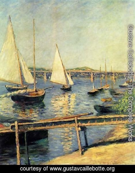 Gustave Caillebotte - Sailboats In Argenteuil