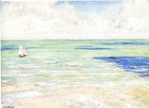 Gustave Caillebotte - Seascape  Regatta At Villers