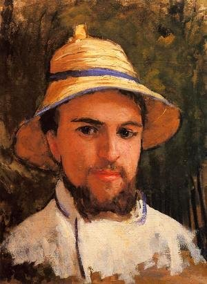 Gustave Caillebotte - Self Portrait (fragment) Aka Self Portrait Wearing A Summer Hat
