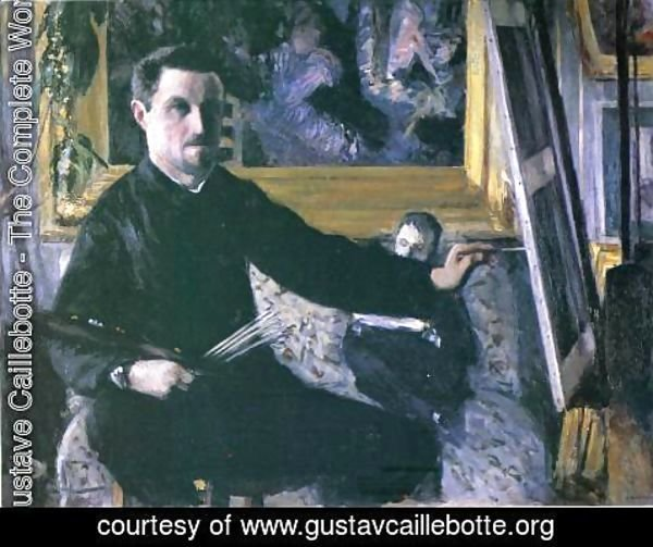 Gustave Caillebotte - Self Portrait With Easel