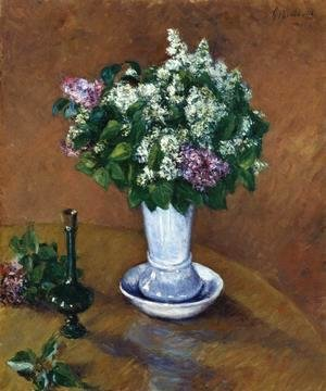 Gustave Caillebotte - Still LIfe With A Vase Of Lilacs
