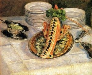 Gustave Caillebotte - Still Life With Crayfish